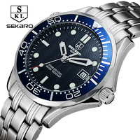 Sekaro Mens Wrist Automatic Mechanical Watch Men Top Brand Luxury Clock Business Army Watches Sport Military