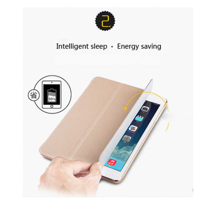 Tablet Case voor Samsung Galaxy Tab S2 8.0 inch SM-T710 T715C T715 Stand Fold Lederen PU Transparant Clear Beschermende Terug cover