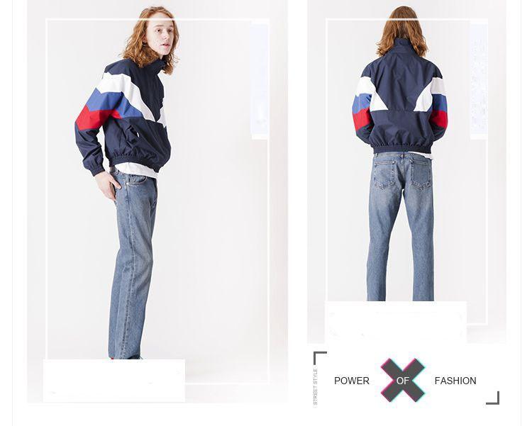 Men Jacket Gosha Rubchinskiy Classic Navy Tricolor Sport Long sleeve Windbreaker Jackets Hiphop Skateboards Couples Outwear S-XL (14)