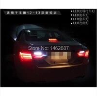 Free Shiping 12V 6000k LED Rear Light For Toyota Mark 2010 2013 Taillight Lamps Auto Light