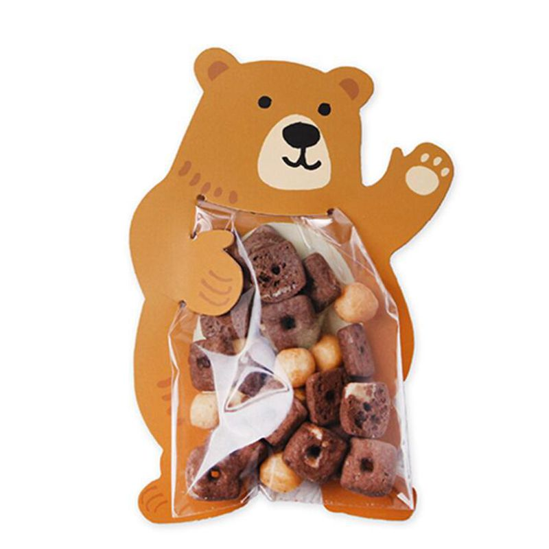 10PCS//Lot Creative Cookie Bags Cute Animals Shaped Candy Bags High Quality Gifts