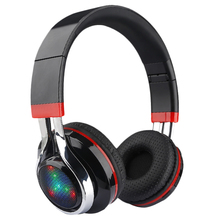 Glowing Stereo Casque Audio Bluetooth Headphone Wireless Big Headset Sport Earphone Mic Led Light Tf Fm For Pc Phone st8 hifi casque audio wireless bluetooth earphone stereo bass adjustable sport headphone support tf card fm with mic headset
