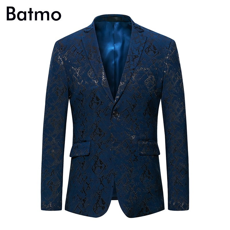 Batmo 2019 New Arrival Autumn High Quality Print Casual Blazers Men,men's Print Blazer,print Jackets Men Plus-size M-6XL 991