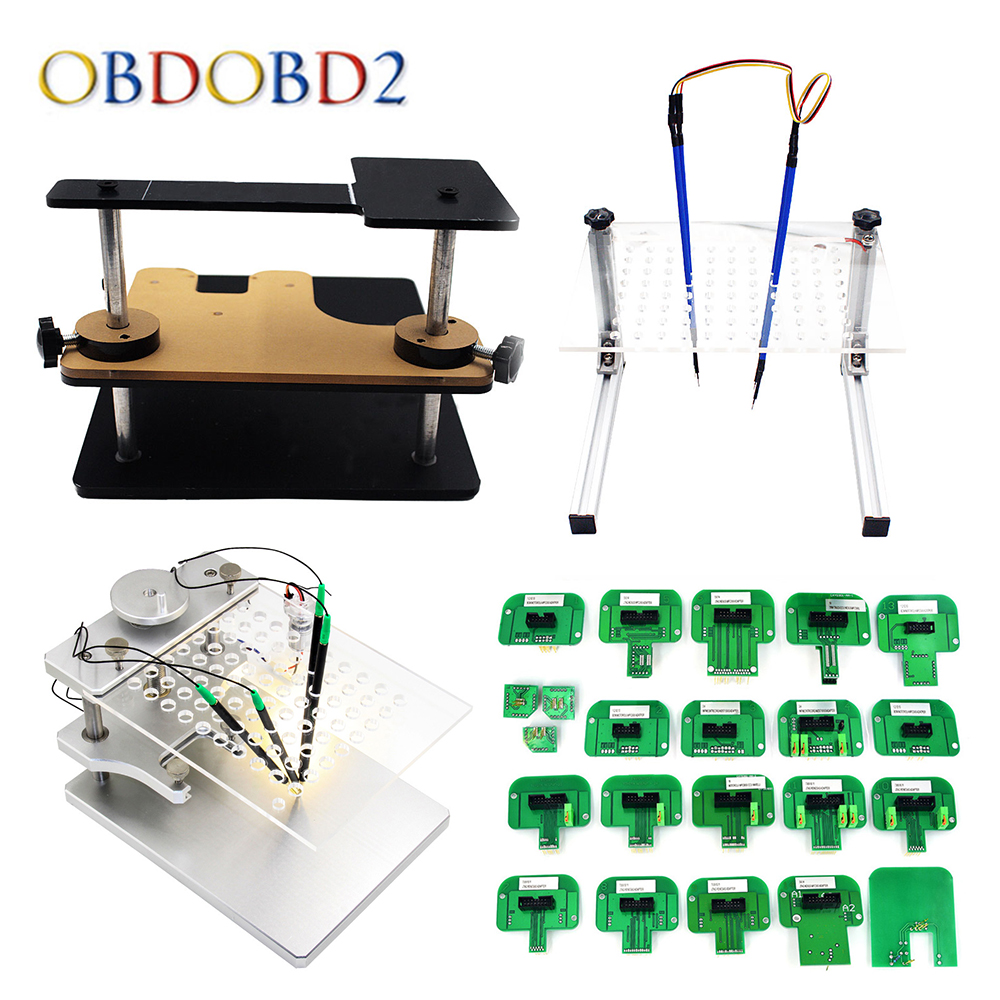 22pcs BDM Probe Adapters ECU RAMP For KESS KTAG BDM100 / CMD100 / FGTECH V54 Led BDM Frame Full Set ECU Programmer Free Shipping best quality led bdm frame with 4 probe pens full set 22pcs bdm adapters fit for ktag kess fgtech bdm100 ecu chip proframmer