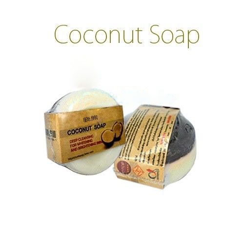 Купить с кэшбэком Coconut Soap 50g Natural Coconut Oil Soap for Deep Cleansing & Brighten Skin Free Shipping
