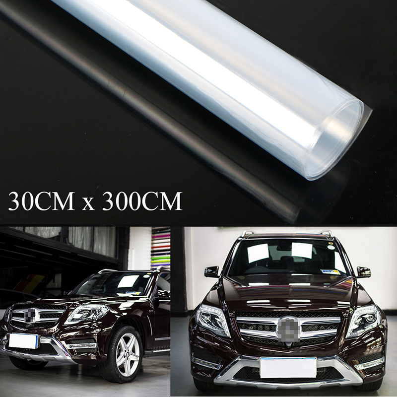 1PC 30cm*3m Clear Car Protective Film Vinyl Door Edge Paint Protection 3 Layers-in Car Stickers from Automobiles & Motorcycles