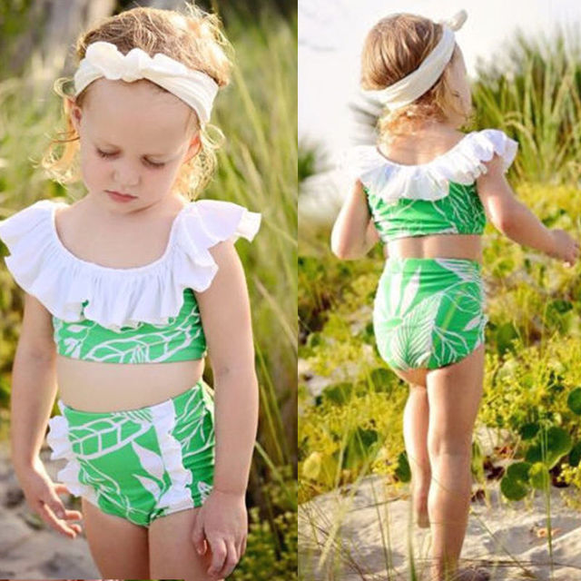 a7d42a73eff US $3.86 12% OFF|Newborn Toddler Baby Kids Girls Trendy Lovely Cute Bikini  Bathing Suit Swimwear Swimsuit Beachwear-in Children's Two-Piece Suits from  ...
