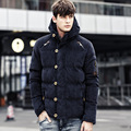 Plus Size M-3XL 2016 New Winter Cotton-Padded men's Jacket For Young Men Thick Warm Fashion Black Parka Coat for men