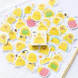45pcs/pack Kawaii Pudding Stickers Stationery Creative DIY Diary Scrapbook Decoration Sticker Pack Kawaii Papeleria