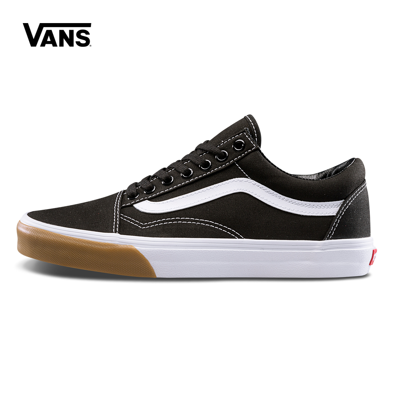 Original Vans Low-Top Male Skateboarding Shoes Old Skool Mens Sport Shoes Canvas Sneakers Breathable Leisure Black