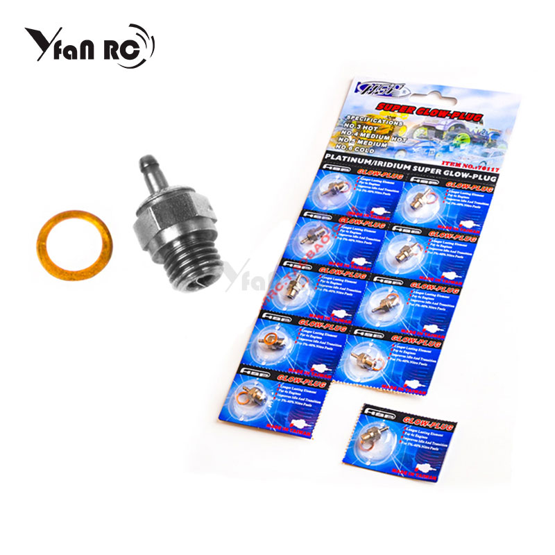 N3 Hot Glow Plug #3 #4 N4 Spark For Vertex SH Nitro Engine Parts 1/10 1/8 RC Buggy Monster Truck Replace OS 8 HSP 70117