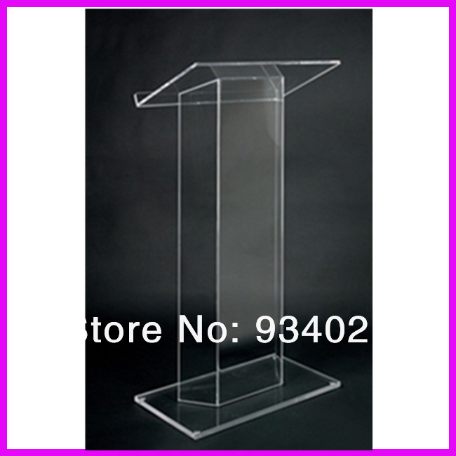 Modern Design Acrylic Podium Pulpit Lectern Plexiglass