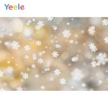 Yeele Winter Fallen Snowflake Glitter Backdrops Photography Personalized Photographic Backgrounds For Photo Studio