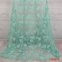 African Tulle Lace Fabric With Beads 2018 Latest 3D Lace Fabric With Beads High Quality FrenchLace Fabric GD1400B 8