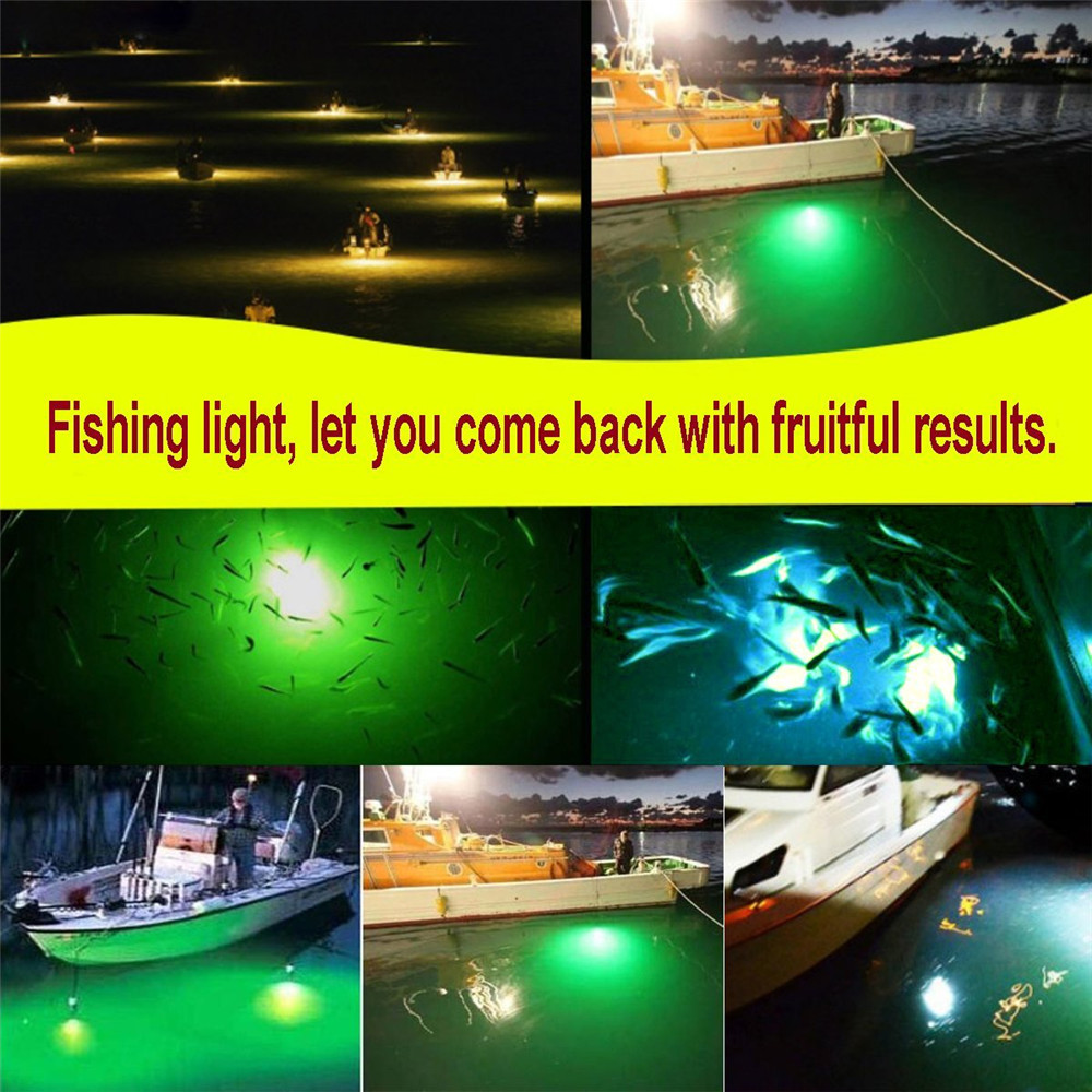 12V Fishing Light 108pcs 2835 LED Underwater Fishing Light Lures Fish Finder Lamp Attracts Prawns Squid Krill (4 Colors ) 5