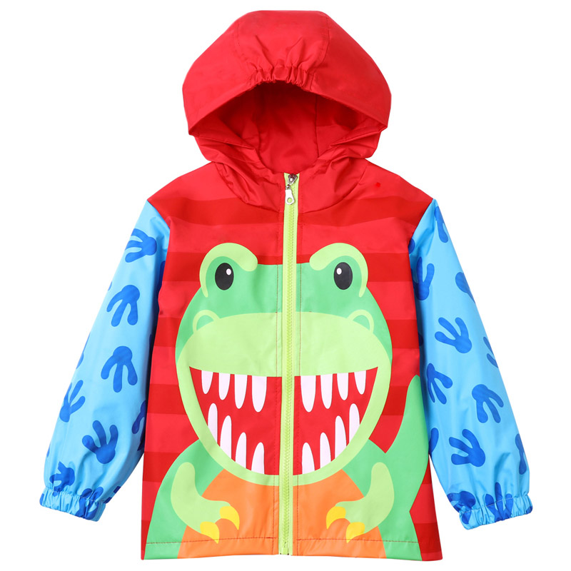 6e8b32aab Baby Boys Windbreaker For Girls Jacket 2018 Autumn Spring Dinosaurs ...