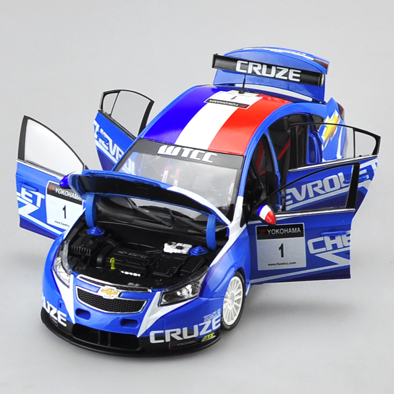 Brand New 1/18 Scale USA Chevrolet Cruze WTCC 2011 Racing Car Diecast Metal Model Toy For Collection/Gift/Kids/Decoration maisto jeep wrangler rubicon fire engine 1 18 scale alloy model metal diecast car toys high quality collection kids toys gift