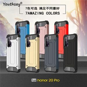 Image 3 - Pour Huawei Honor 20 Pro étui armure en caoutchouc robuste étui rigide pour Huawei Honor 20 Pro couverture pour Honor 20 Pro étui Youthsay