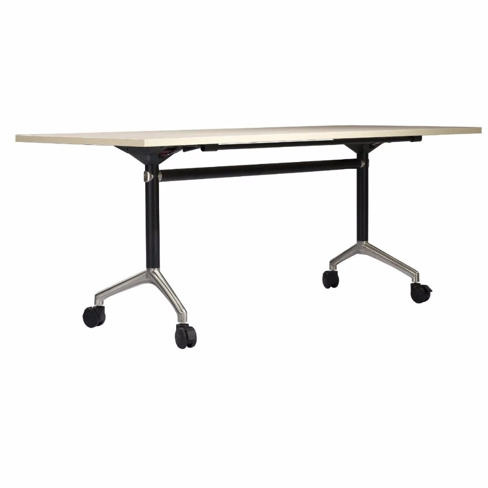 0314YC81-15 Movable meeting folding metel frame School office training tables negotiating office conference desk frame negotiating