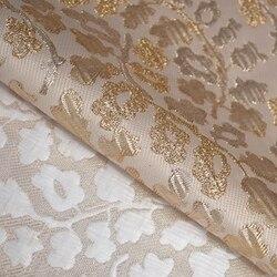 عرض ساخن على الموضة من قماش الجاكار الذهبي ثلاثي الأبعاد متعدد الألوان لفستان معطف براق من القماش بنمط ذاتي الصنع
