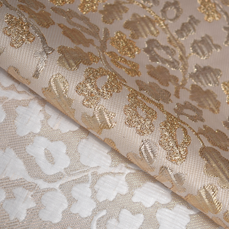 Hot sale fashion Multicolor the three-dimensional gold jacquard brocade fabric for dress coat bright cloth tissu au meter DIY
