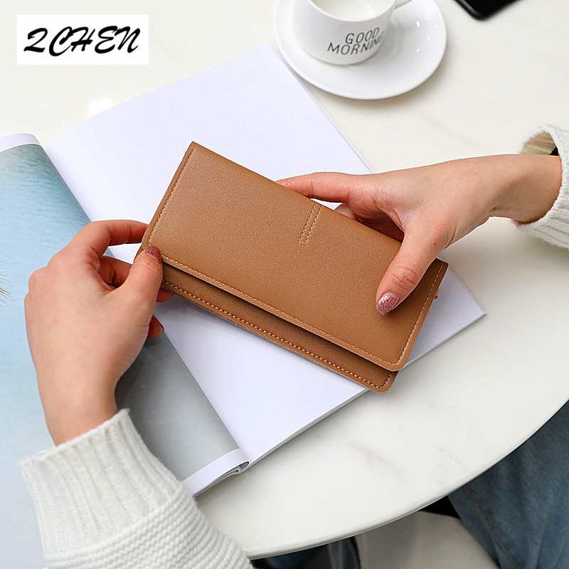 Woman 39 s wallet New Fashion Women Wallets Long Style Multi functional wallet Purse Fresh PU leather Female Clutch Card holder 359 in Wallets from Luggage amp Bags
