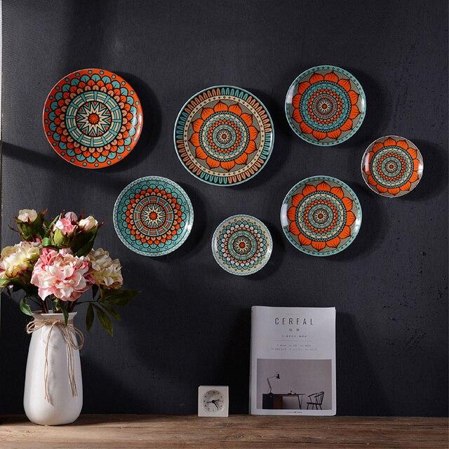Bohemia Creative Dish Of Ceramic Dish Plate Hanging Wall Hangings Western  Dessert Dish Bakeware Decorative Plate