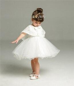 Кружевное платье для девочек от 3 до 24 месяцев, платье на день рождения для девочек 1 года, платье принцессы на день рождения для малышей, комплект из двух предметов, 2019