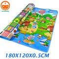 180 CM alfombra de juego de los niños alfombras Kids juego alfombra doble cara feliz granja bebé alfombras de juego para juguetes del bebé recién nacido estera PX02