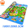 180CM Infant Play Mat Children Rugs Kids Play Carpet Double Side Happy Farm Baby Play Rugs For Newborn Baby Toys Mat PX02