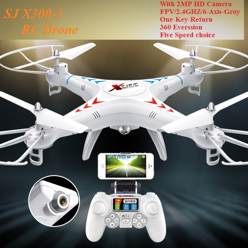 New SJ X300-1 Quadcopter RC Drone 4CH 2.4G  Airplane With HD Camera  FPV  LED Light Headless Mode 4D Eversion toy jjr c jjrc h43wh h43 selfie elfie wifi fpv with hd camera altitude hold headless mode foldable arm rc quadcopter drone h37 mini