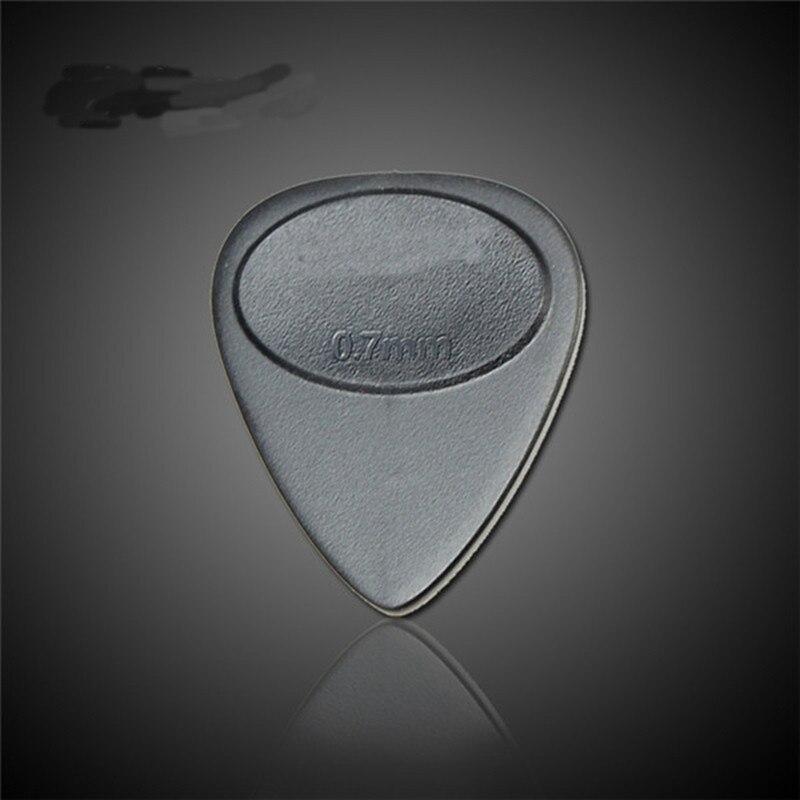 10 Teile/los 0,7mm Schwarz Projektion Nylon E gitarre Plektrum Pick ...