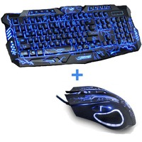 New Red Purple Blue Led Backlight USB Wired Laptop PC Pro Gaming Keyboard Mouse Combo for LOL Dota 2 Gamer Keyboard Mouse Combo