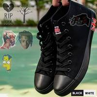 New Sing Rapper XXXTentacionPrinted Illustration High Top Canvas Uppers Sneakers College Personalise Fashion High topped A194301