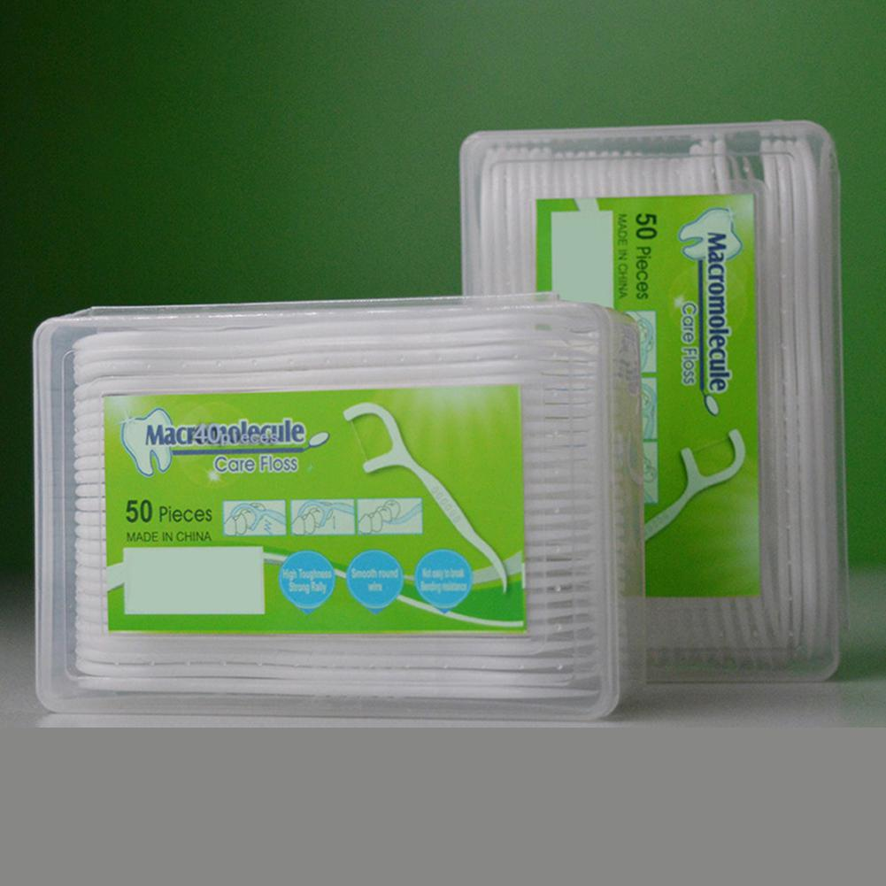 HobbyLane 50pcs/lot Dental Thread Interdental Brush Teeth Plastic Toothbrush High Polymer Wire Disposable Toothpicks Tooth Floss