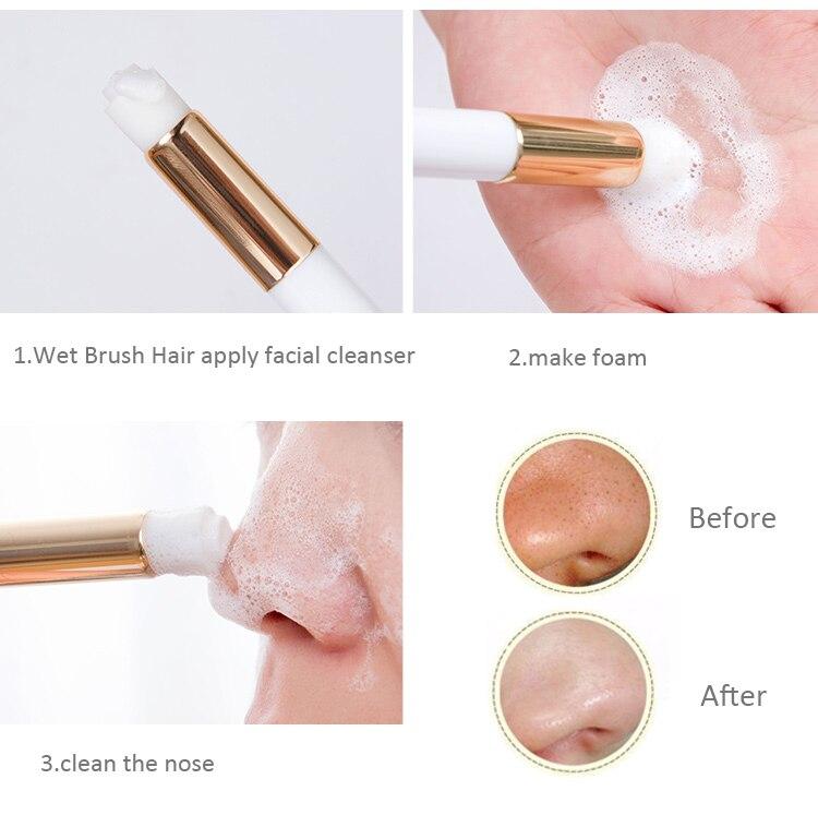 Профессиональная щетка для чистки ресниц Yelix, очищающая щетка для носа и угрей, моющее средство для наращивания ресниц, инструменты для маки...