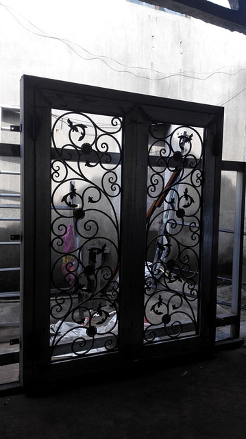 wrought door safety the combination style eyebrow iron universal and classic pietro doors of custom