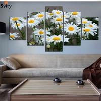Moderne Wit zonnebloem Bloemen Poster Prints Op Canvas Woonkamer Wall Art Foto Canvas Schilderij Woondecoratie Unframe A103