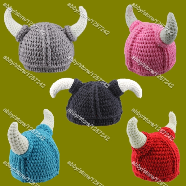 Free shipping 3 5days 2015 Wholesale Crochet Viking Helmet hat ...