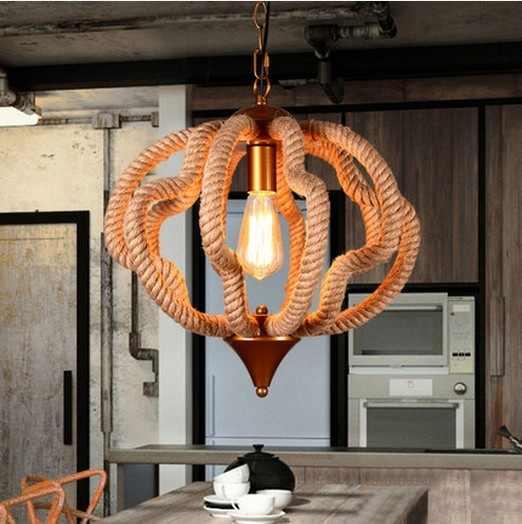 Эдисон Лофт стиль железная веревка Droplight Винтаж подвесные светильники для обеденная подвесной светильник освещение в помещении Lamparas