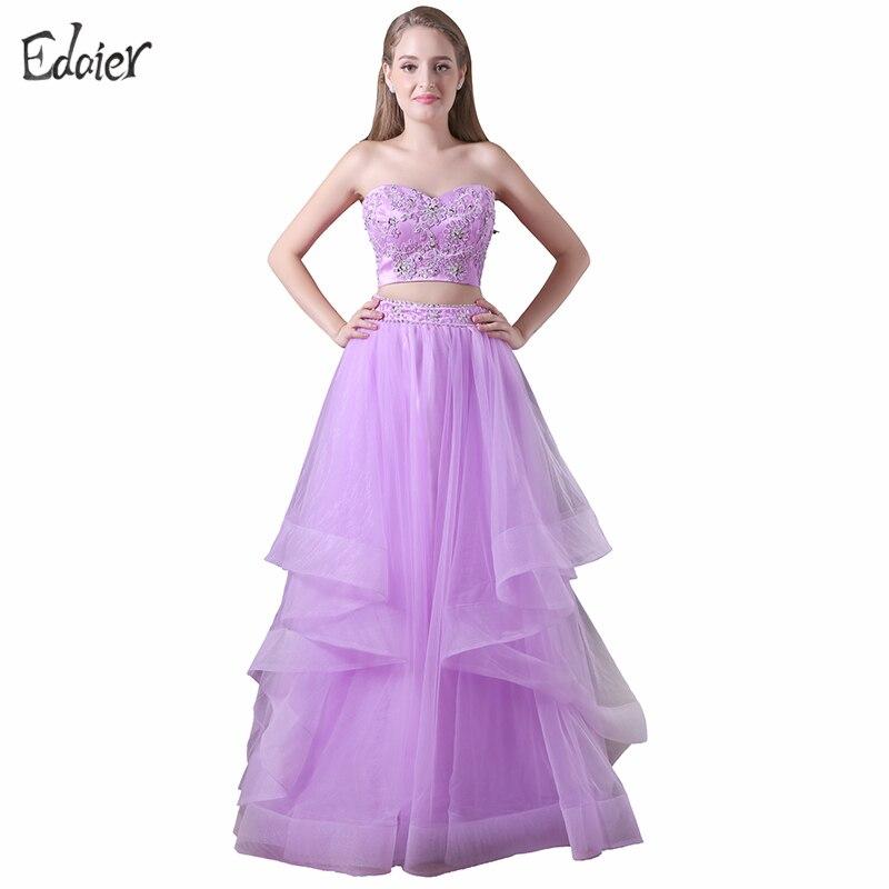 Online Get Cheap Purple Prom Dresses Two Piece -Aliexpress.com ...