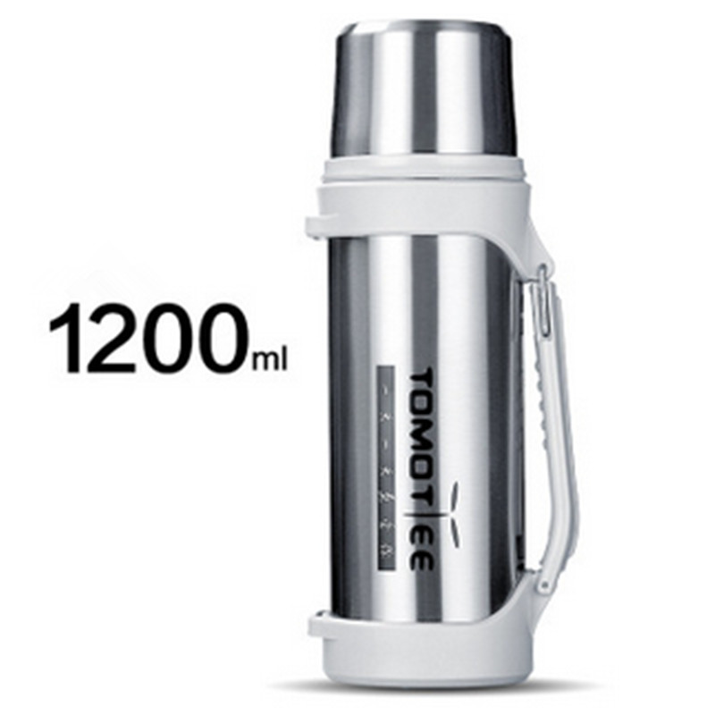 1200ML double layer vacuum heat preservation kettle stainless steel cup creative outdoor travel kettle sports kettle