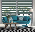 Total Blackout Double Layer Blinds Zebra Roller Blinds Rainbow Blinds for Window JN697