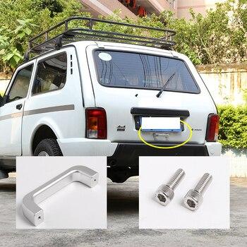 Aluminum Alloy Tail Door Handle Trim For LADA NIVA 2018 Car Accessories