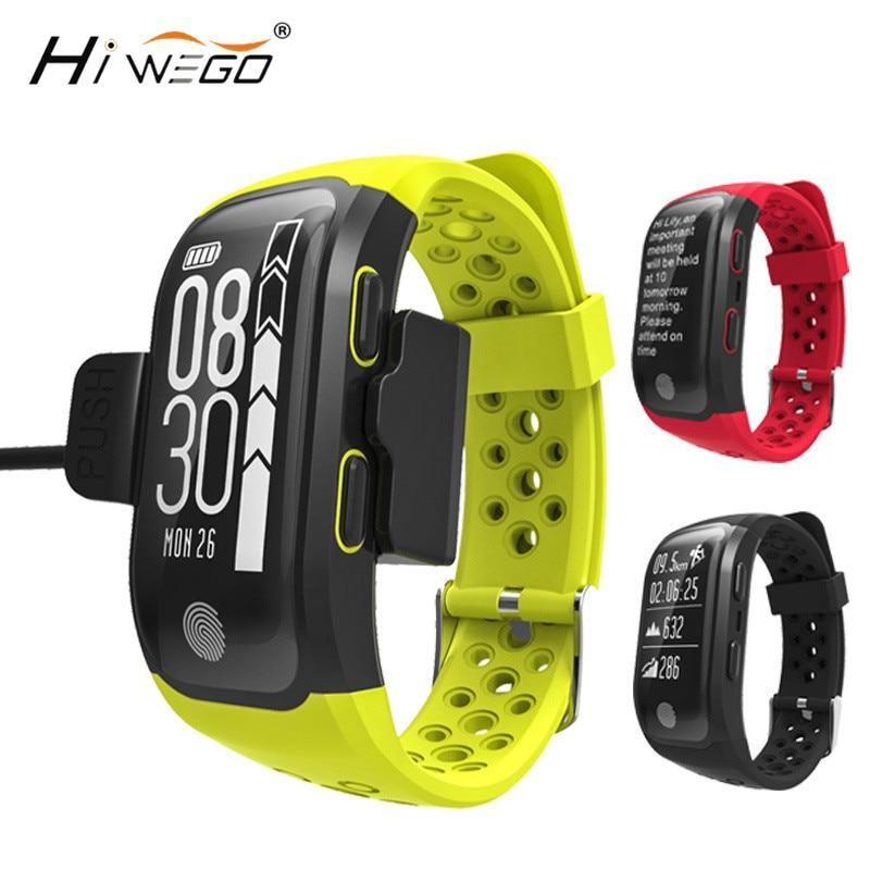 Hiwego Men Fitness Smart Wristband Dynamic Heart Rate IP68 Waterproof GPS Smart Band Bracelet Tracker Smartband Watch G03 S908 компьютер моноблок acer aspire c20 820 dq bc4er 001