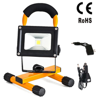 EU Emergency Spotlight Rechargeable Portable LED Lamp Outdoor Camping Mountaineering Outdoor Waterproof Flood Light 10W