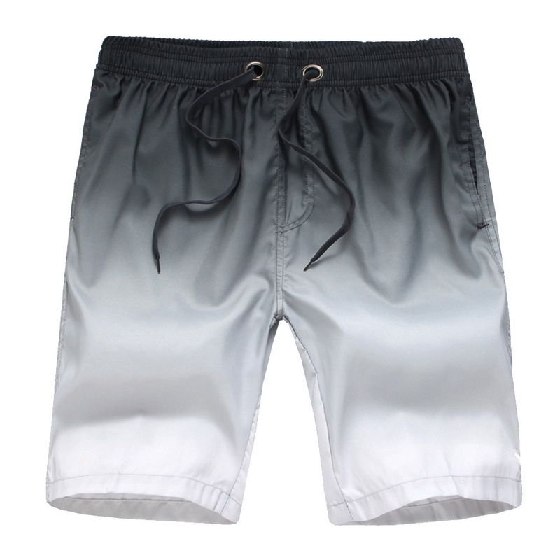 Oeak Mens Gradient Color Casual Beach Shorts New Summer Fashion Casual Straight Loose Slim Fit Comfortable Lace Up Running Short
