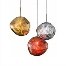 Современный Том Диксон стиль акрил/стекло расплава открытый подвесные светильники нестандартный рисунок подвесной светильник Лава спальня кухня ресторан