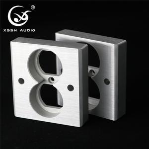 Image 5 - XSSH Audio YS36 # DIY toma de corriente de entrada eléctrica HIFI, chapado en cobre rojo, oro de 24k, 20Amp, 20A, 86x86x20mm, CA, EE. UU. IEC