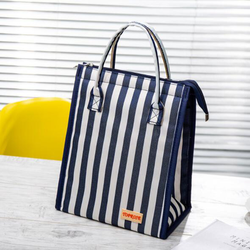 Fashion Waterproof Canvas Lunch Bags For Women Kids Men Cooler Lunch Box Bag Tote High Quality Portable Insulation Package Food